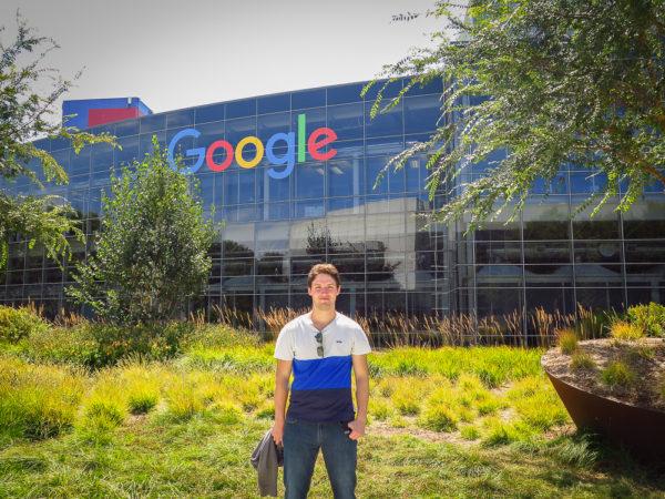 Google, budova, Silicon Valley