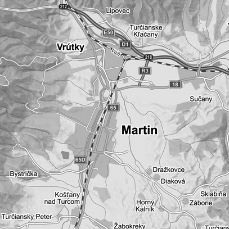 mapka, Martin, Slovensko