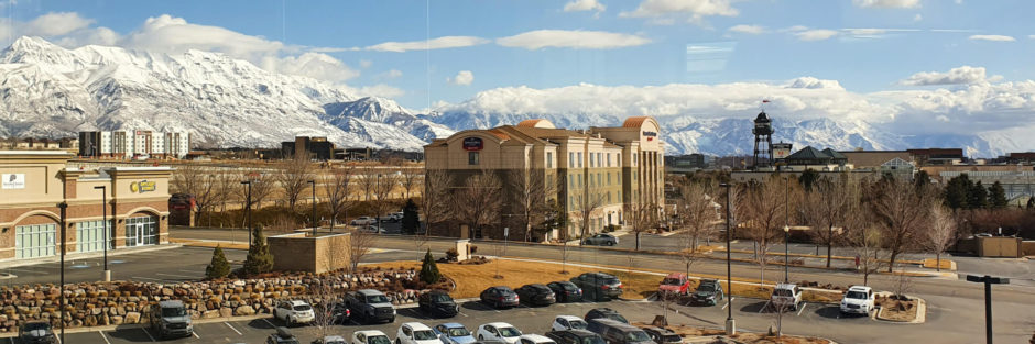 pohled z okna kanceláří společnosti Divvy v Utahu