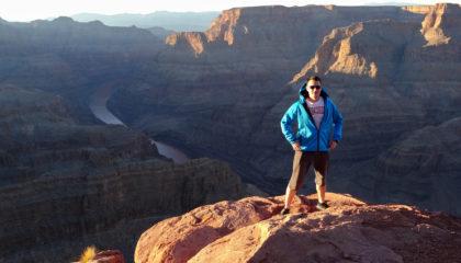člen týmu profiq v Grand Canyonu, USA