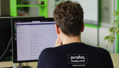 fotka stážisty v tričku Student Pool ve společnosti profiq